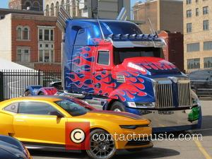 Transformers 4 film set - Detroit has been transformed into mini Tokyo as the movie,