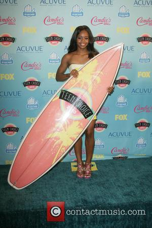 Gabby Douglas - 2013 Teen Choice Awards Press Room held at the Gibson Amphitheatre - Los Angeles, CA, United States...