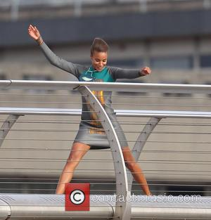 Zoe Saldana - Cast and crew shoot scenes for the movie Guardians of the Galaxy on the Millennium Bridge -...