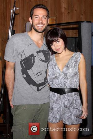 Zachary Levi and Krysta Rodriguez - Recording Session of the Broadway musical First Date held at MSR studios. - New...