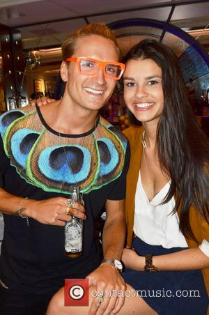 Oliver Proudlock and and girlfriend Grace McGovern - Celebrities attend the Fiona Culley showcase held at the Voodoo Vaults Embassy....
