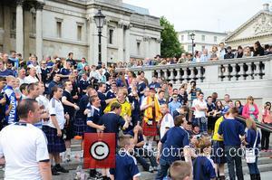 Scottish, Trafalgar Square and England