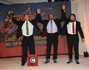 "John Cena, Paul ""triple H"" Levesque and Daniel Bryan"