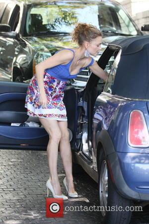 Izabella Miko - Izabella Miko arrives at her hotel in West Hollywood - Los Angles, CA, United States - Tuesday...