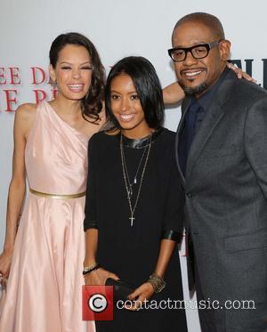 Keisha Whitaker, Autumn Whitaker and Forest Whitaker