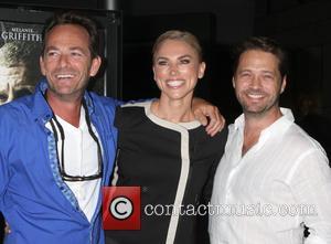 Luke Perry, Naomi Lowde-Preistley and Jason Priestley - L.A. Premiere of