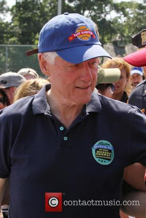 President Bill Clinton - 65th Annual Artists & Writers Softball Game - New York, NY, United States - Saturday 17th...
