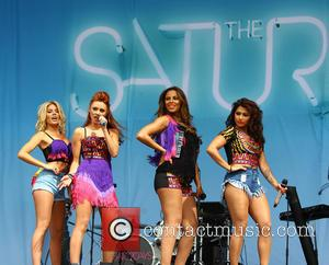 The Saturdays - The Saturdays open the main stage of V Festival day 2 in Hylands Park, Chelmsford - Chelmsford,...