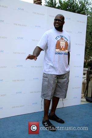 Shaquille O'Neal - NBA All-Star SHAQUILLE O'NEAL Hosts A Party At Azure Luxury Pool Inside Palazzo Hotel And Casino In...