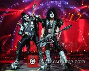 Gene Simmons and Paul Stanley - KISS performing live in concert at the Lakeland Civic Center in Lakeland, Florida -...