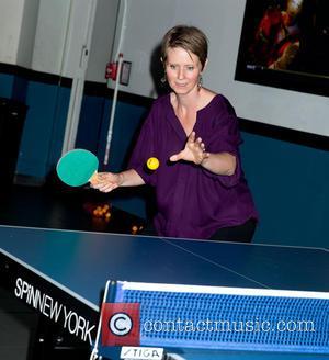 Cynthia Nixon - Susan Sarandon Hosts Ping Pong Event for Bill de Blasio Campaign at Spin - New York, NY,...