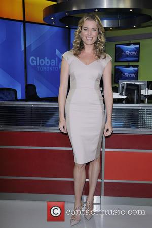Rebecca Romijn - Cast of 'King and Maxwell' on Global TV's The Morning Show promoting the show. - Toronto, Canada...