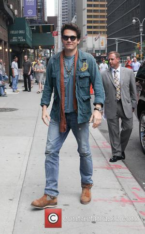 John Mayer - Arrivals and Departures at the Late Show with David Letterman at the Ed Sullivan Theater in New...