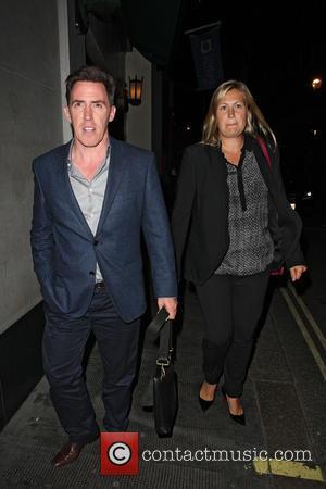 Rob Brydon and Clare Brydon - David Walliams' 42nd birthday party at the Ivy Club - London, United Kingdom -...