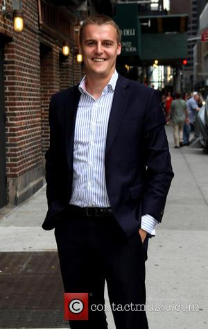 Hugh Evans - Celebrities outside the Ed Sullivan Theater for 'The Late Show with David Letterman' - New York, NY,...