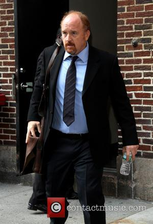 Louis C.K. - Celebrities outside the Ed Sullivan Theater for 'The Late Show with David Letterman' - New York, NY,...