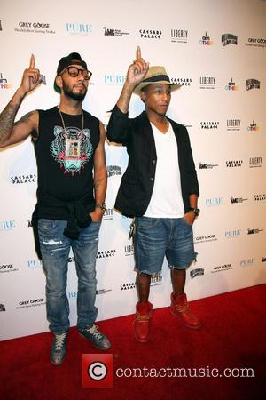 Swizz Beatz and Pharrell Williams - PHARRELL WILLIAMS At Liberty Fairs 10th Anniversary of Billionaire Boys Club