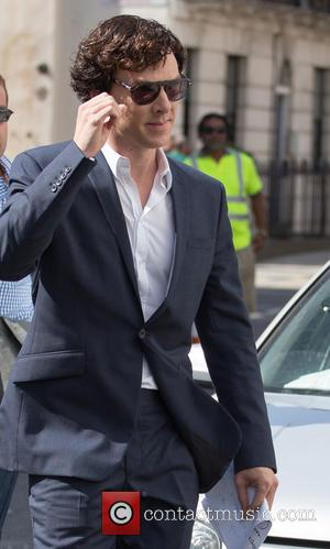Benedict Cumberbatch - Benedict Cumberbatch and Martin Freeman seen filming on location in central London for 'Sherlock' Season 3 -...