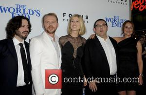 Edgar Wright, Simon Pegg, Rosamond Pike, Nick Frost and Nira Park