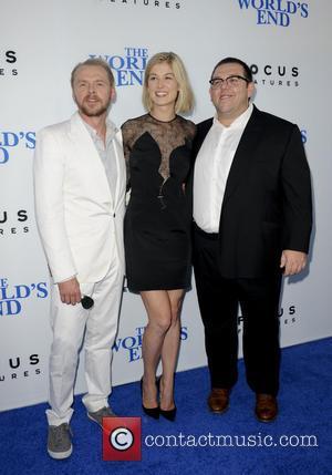 Simon Pegg, Rosamond Pike and Nick Frost