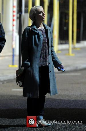 Amanda Abbington - Amanda Abbington filming on location of TV crime drama