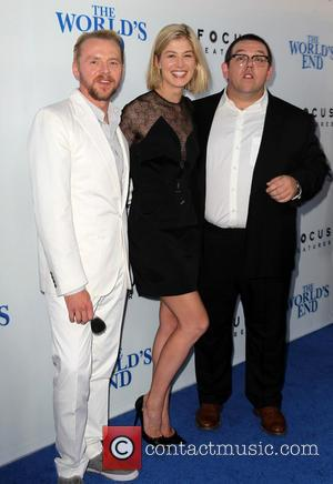 Simon Pegg, Rosamund Pike and Nick Frost