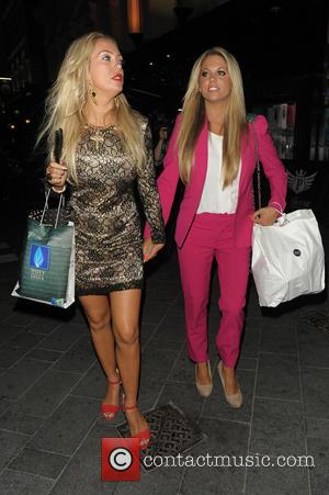 Aisleyne Horgan-Wallace and Bianca Gascoigne - Aisleyne Horgan-Wallace and Bianca Gascoigne leaving The Bloggers Love Collection - fashion show held...