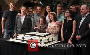 Eric Christian Olsen, Chris O'donnell, Ll Cool J, Linda Hunt, Barrett Foa, Renée Felice Smith and Miguel Ferrer With Execs