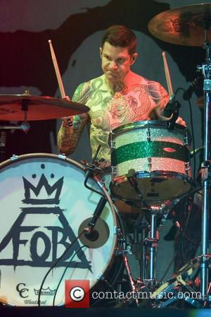 Andy Hurley - Fall Out Boy performs at the O2 Academy - Glasgow, United Kingdom - Saturday 24th August 2013