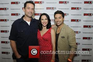 Billy Campbell, Kyra Zagorsky and Mark Ghanime