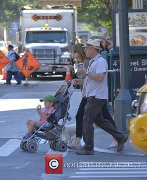 James Spader and Leslie Stefanson - James Spader and Leslie Stefanson seen out for morning coffee - Manhattan, NY, United...
