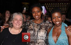 Jayne Houdyshell, Condola Rashad and Roselyn Ruff - First Preview of Broadway's Romeo and Juliet at the Richard Rodgers Theatre-Departures....
