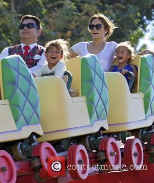 Jennifer Lopez, Maximilian Muniz and Emme Muniz