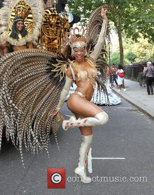 Paraiso School of Samba Notting Hill Carnival warm up - Notting Hill Carnival 2013 - London, United Kingdom - Monday...