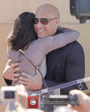 Vin Diesel Surrounded By Female Co-stars At Hollywood Star Unveiling