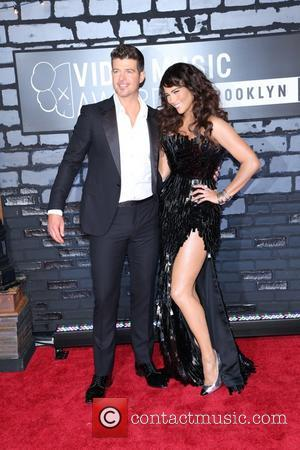 Paula Patton and Robin Thicke - the 2013 MTV Video Music Awards at the Barclays Center on August 25, 2013...