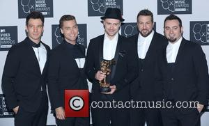 Jc Chasez, Lance Bass, Justin Timberlake, Joey Fatone and Chris Kirkpatrick Of N'sync
