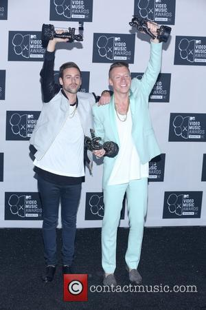 Macklemore and Ryan Lewis - the 2013 MTV Video Music Awards at the Barclays Center on August 25, 2013 in...