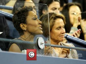 Robin Roberts - Celebrities watch Serena Williams play Francesca Schiavone during day 1 of the 2013 US Tennis Open at...