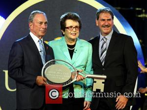 Michael Bloomberg, Billie Jean King and David Haggerty - The Opening Night concert for the 2013 US Open Tennis Tournament,...