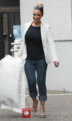 Jodie Marsh - Celebrities Leaving the ITV Studios - London, United Kingdom - Tuesday 27th August 2013
