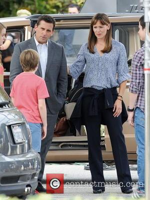 Jennifer Garner and Steve Carell - Filming of