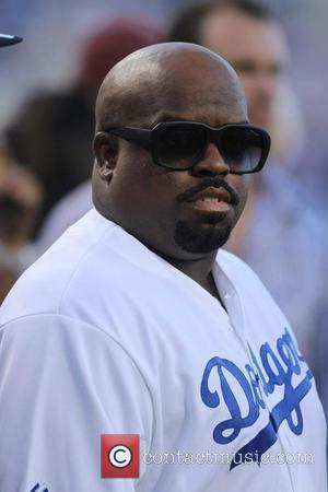 Cee Lo Green - Celebrities at the LA Dodgers game