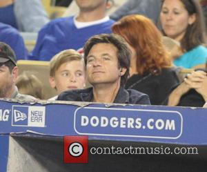 Jason Bateman - Celebrities at the Los Angeles Dodgers baseball game - Los Angeles, CA, United States - Tuesday 27th...