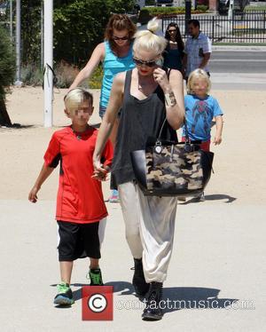 Gwen Stefani, Kingston Rossdale and Zuma Rossdale