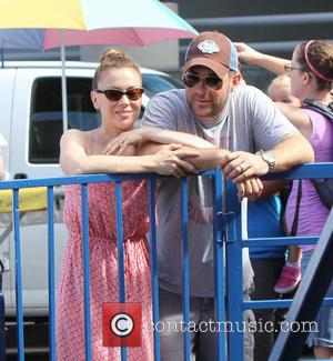 Alyssa Milano - Actress Alyssa Milano out with husband, David Bugliari and son Milo Bugliari celebrating his second Birthday at...