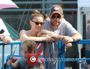 Alyssa Milano and David Bugliari - Actress Alyssa Milano takes Her Husband David Bugliari and Son Milo Bugliari out for...