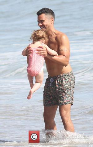 Cash Warren and Haven Warren - Jessica Alba with family and friends spending the day on the beach in Malibu...