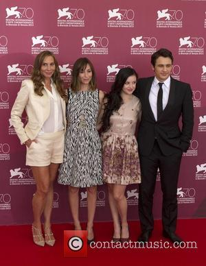 Jacqui Getty, Gia Coppola, Claudia Levy and James Franco