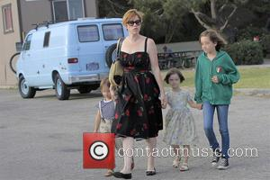 Molly Ringwald, Adele Gianopoulos, Roman Gianopoulos and Mathilda Gianopoulos - Molly Ringwald takes her children to the 32nd Annual Malibu...